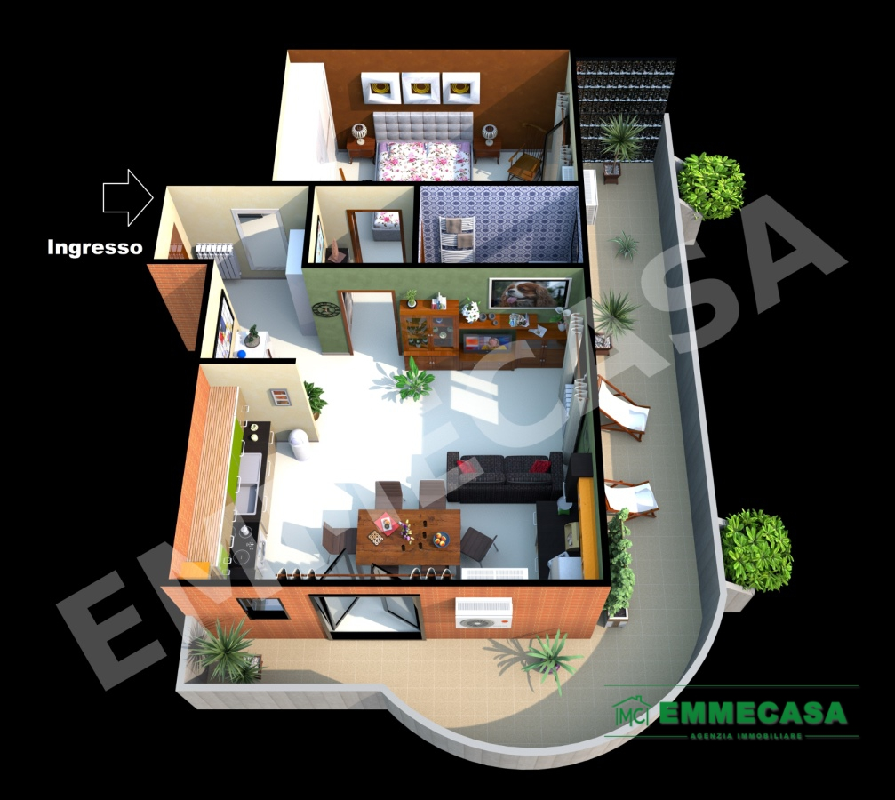 Appartamento in vendita a Valenzano, 2 locali, prezzo € 115.000   CambioCasa.it